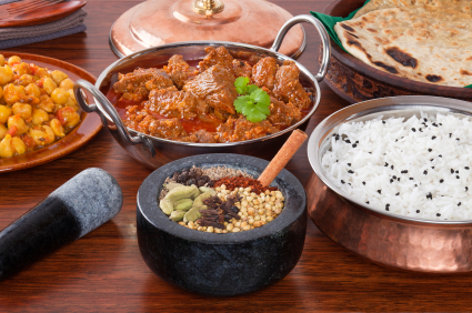 Indian Food Lamb Rogan Josh Curry Spice Selection