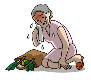 熱中症注意高齢者の外出 健康管理